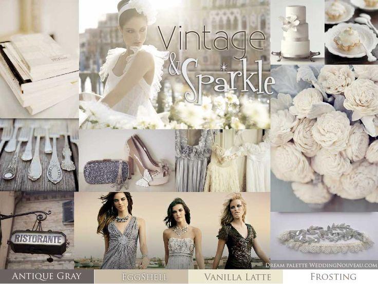Vintage Sparkle Theme For A Wedding