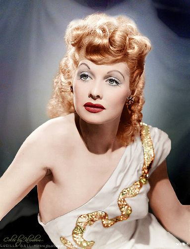 Lucille Ball. (Colorized Photo).