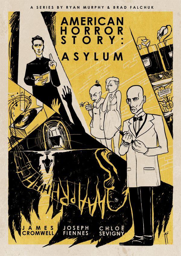 vintage posters: american horror story - asylum | by roberto sánchez #DrArden