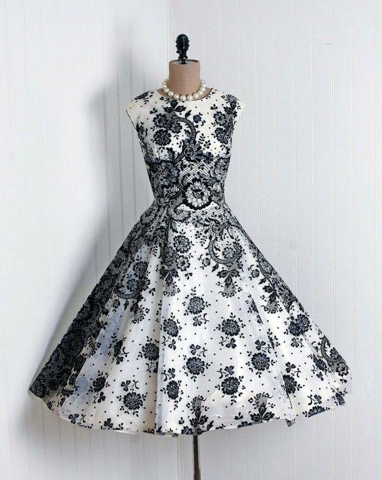Classic Cocktail Vintage Dress