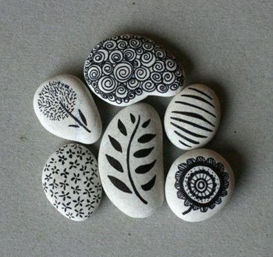 pedras seixos decorar 13