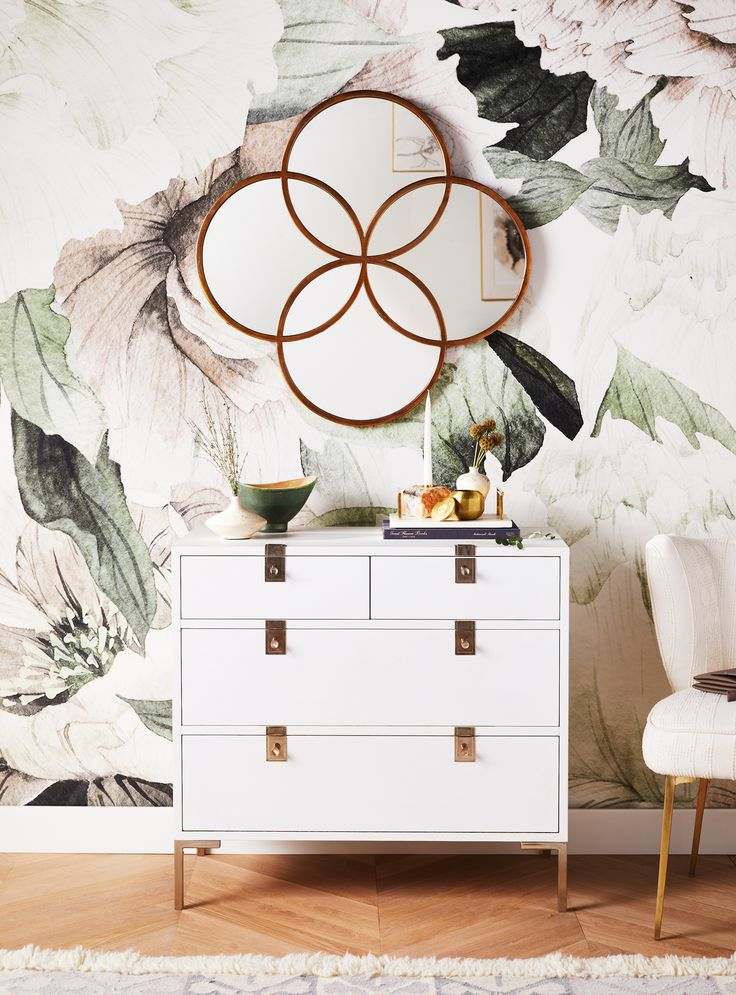 Blush Bouquet Mural #anthrohome