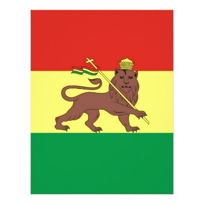 #Old Ethiopian Flag with Lion of Judah Letterhead - #office #gifts #giftideas #business