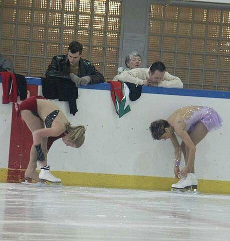 Bianka Padar and Julia Sebestyen at practice