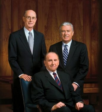 The First Presidency of The Church of Jesus Christ of Latter-Day Saints. What good men!...Beautiful Message