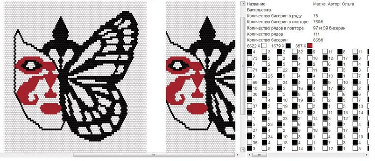 Wayuu Mochila pattern butterfly mask