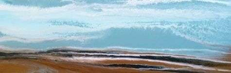 Contemporary Abstract Seascape Painting,Coastal Art Incoming by International Contemporary Artist Kimberly Conrad, painting by artist Kimberly Conrad