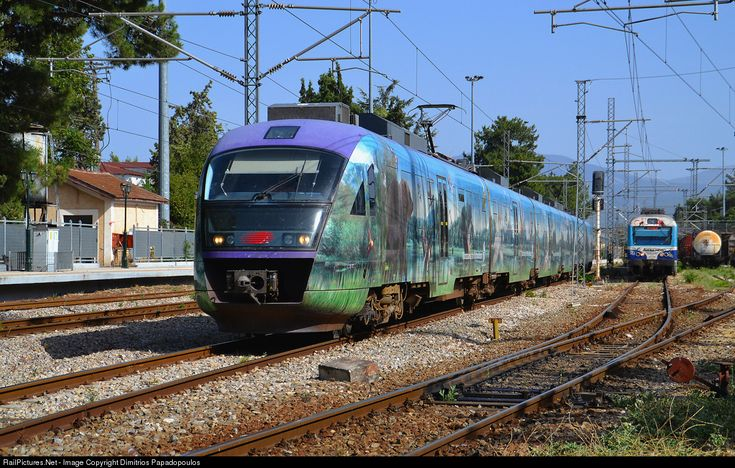 New era for Athens-Halkida regional services.After 100 years from its construction the branchline electrified. Now Siemens Desiro EMU take duties between Inoi junction and Halkida City.In few months this regional service will be continued until Athens.