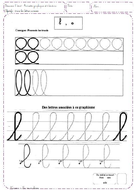 Du graphisme à l'écriture - Nurvero - La vie en classe