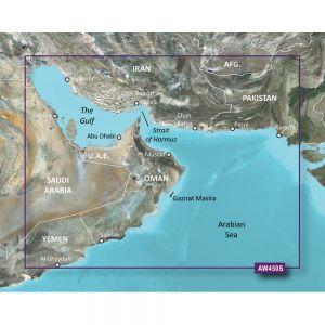 Garmin BlueChart® g2 - HXAW450S - The Gulf - microSD™/SD™. BlueChart® g2 - HXAW450S - The GulfHXAW450S Covers:Detailed coverage the of Kuwait, Saudi Arabia, Qatar, United Arab Emirates, along the southern coast of the Gulf, including Al-Fuhaihil, Ad-Dammam, Bahrain, Ad-Dauha, and Abu Dhabi. Coverage of Iran along the northern coast of the Gulf including Bushehr and Bandar-e Abbas. Coverage of the Strait of Hormuz and the Gulf of Oman. General coverage of the Arabian Sea from Qamar Bay to…