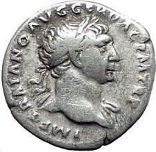 TRAJAN 103AD Rome Authentic Ancient Silver Roman Coin Trophy Tropaion i63408 http://lukebadcoe.blogspot.com/2017/08/trajan-103ad-rome-authentic-ancient.html