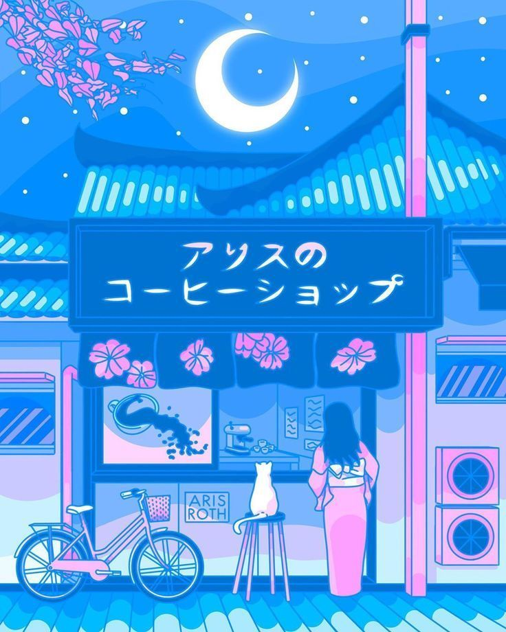 japan aesthetic anime wallpaper Aesthetic anime Anime scenery wallpaper Blue anime