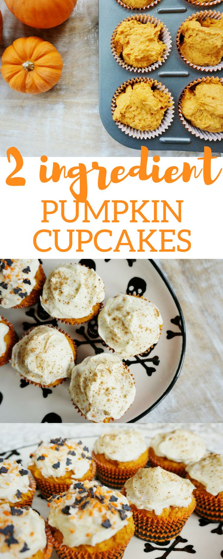 Quick + Easy Pumpkin Cupcakes - my kind of sweet // fall recipes // desserts