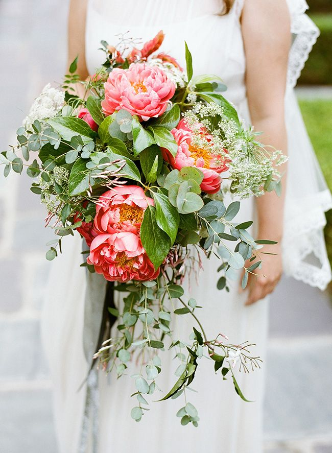 Cascade Bridal Bouquet Instructions : Best images about peach bouquets baby s breath on