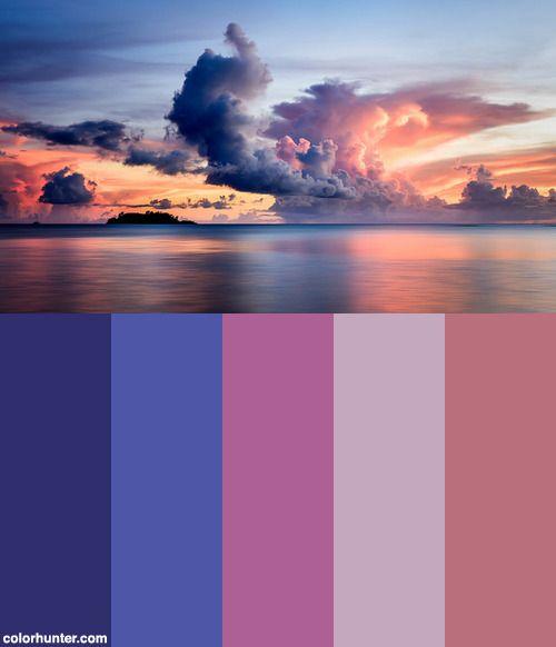 Cloud Sunset Color Scheme from colorhunter.com