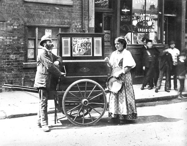 Barrel Organ, c1900s by London Metropolitan Archives, via Flickr