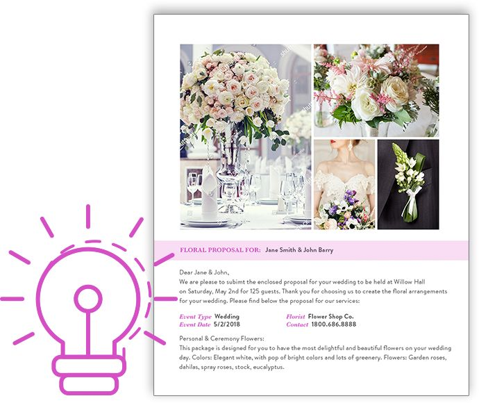 Florist Proposal Software For Weddings And Events Florist Wedding