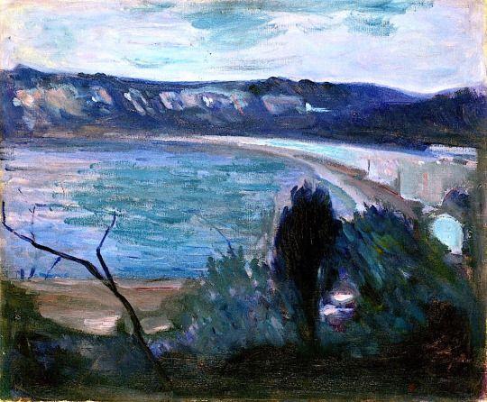 EDVARD MUNCH. Moonlight by the Mediterranean, 1892