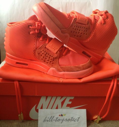NIKE AIR YEEZY 2 RED OCTOBER US13 UK12 KANYE WEST 508214-660 Legit +Receipt  2014  a7b7c6819