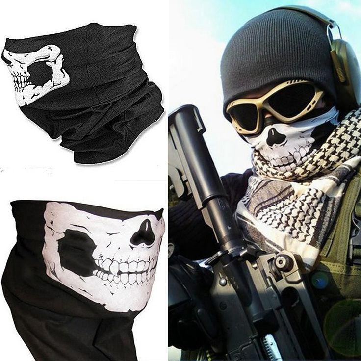 Hot Sale Outdoor Skull Neck Face Bandana Mask Motorcycle Cycling Skeleton Helmet for Paintball Ski Sport Headband As Scarf Bib