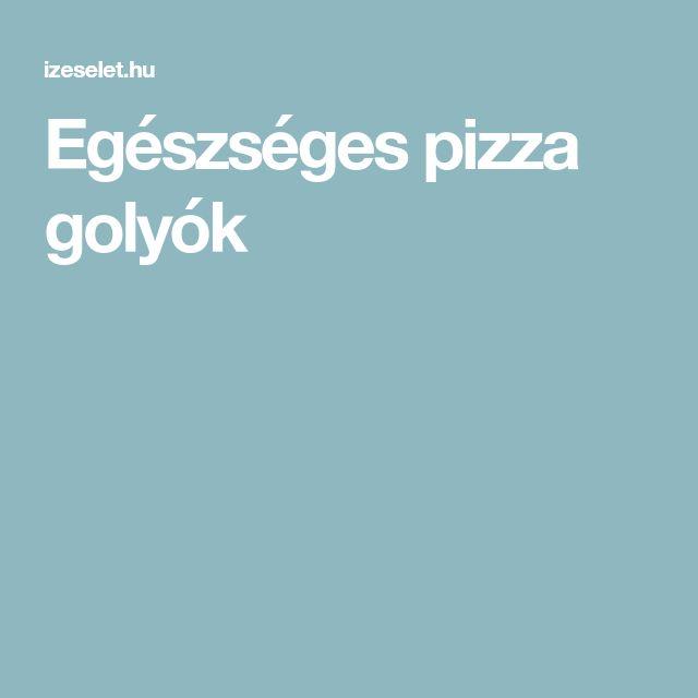 Egészséges pizza golyók
