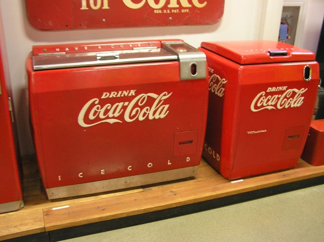 I remember the church basement having an old Coke machine and the soda was 10 cents a bottle.