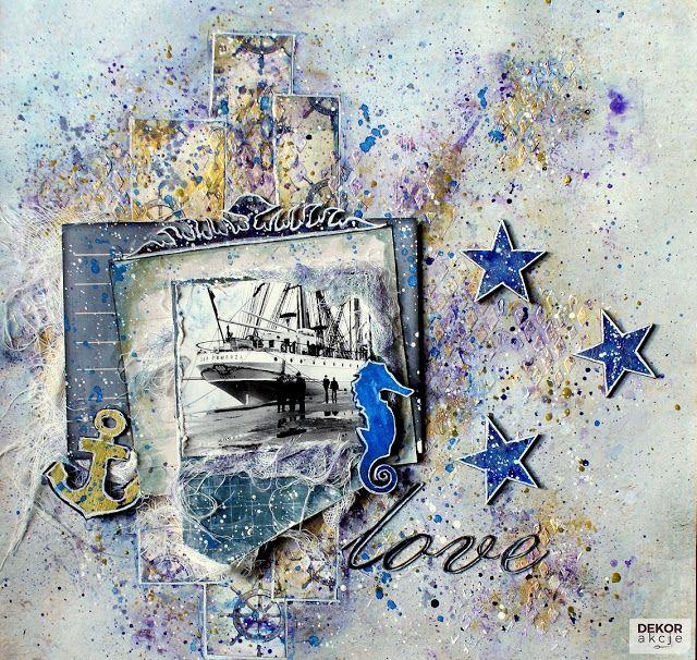 DEKORakcje: Love - Mixed Media Layout - Berry71Bleu GD