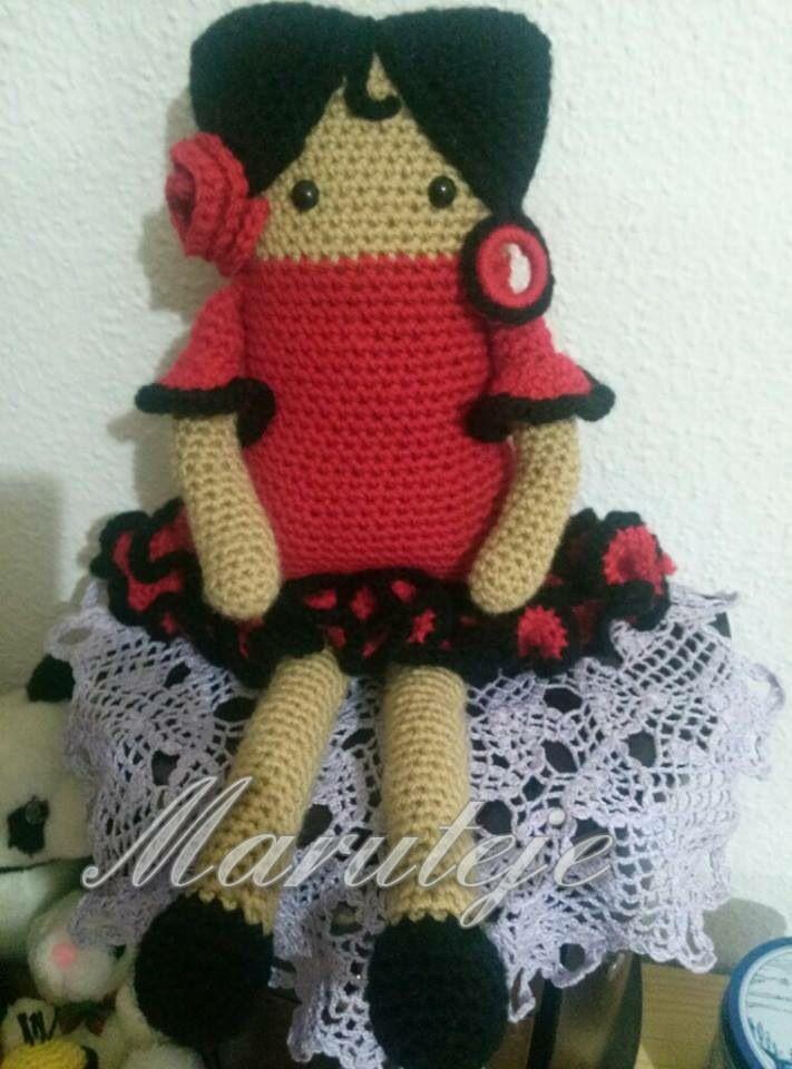 Bonito Patrones De Muñecas De Crochet Libre Cama Modelo - Manta de ...
