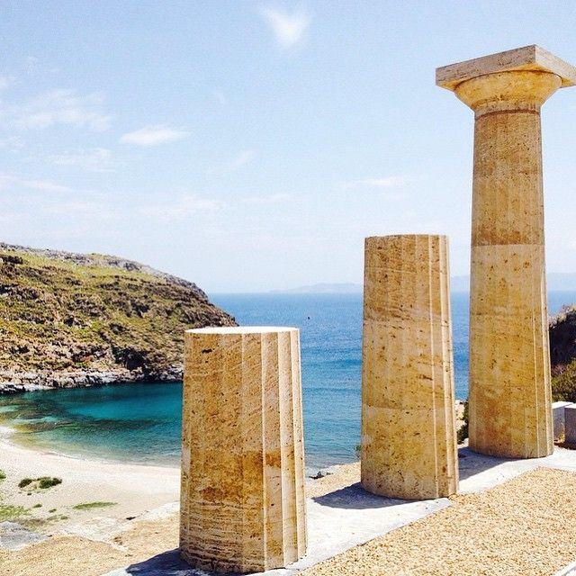 The Temple of Athena, Kea, Tzia Island - Greece.