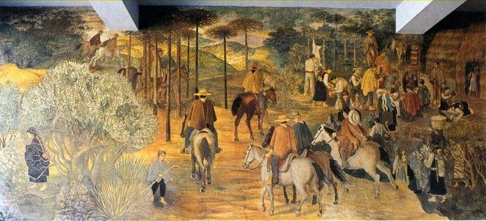 Julio Escámez (1925-2015) Pintor, Grabador y Muralista Chileno.