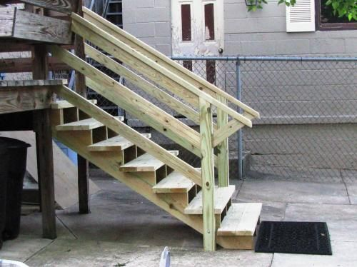Best 8 Step Pressure Treated Pine Stair Stringer 178329 The 400 x 300