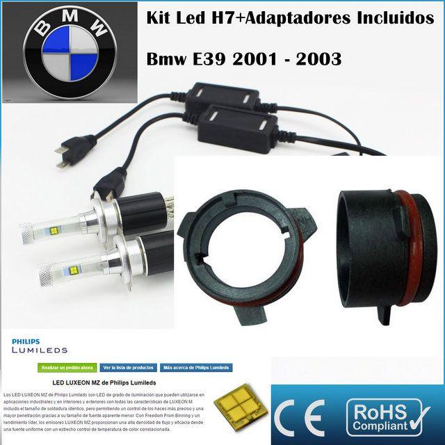 Kit Led BMW E39, AR4,con led PHILIPS de 9600 Lúmenes, Kit de conversión de Faros Halogenos H7 a Faros Led + Adaptadores :: MERCAELITE, kit xenon,Kit Led,Bombillas Led y Xenon,Accesorios