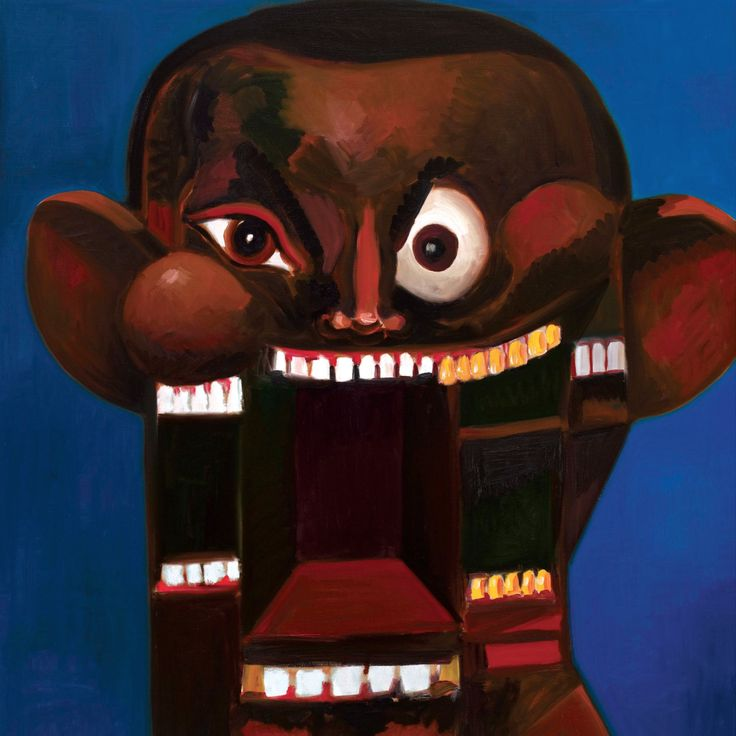 One of the Kanye's West CD Covers (My Beautiful Dark Twisted Fantasy) Designed By George Condo