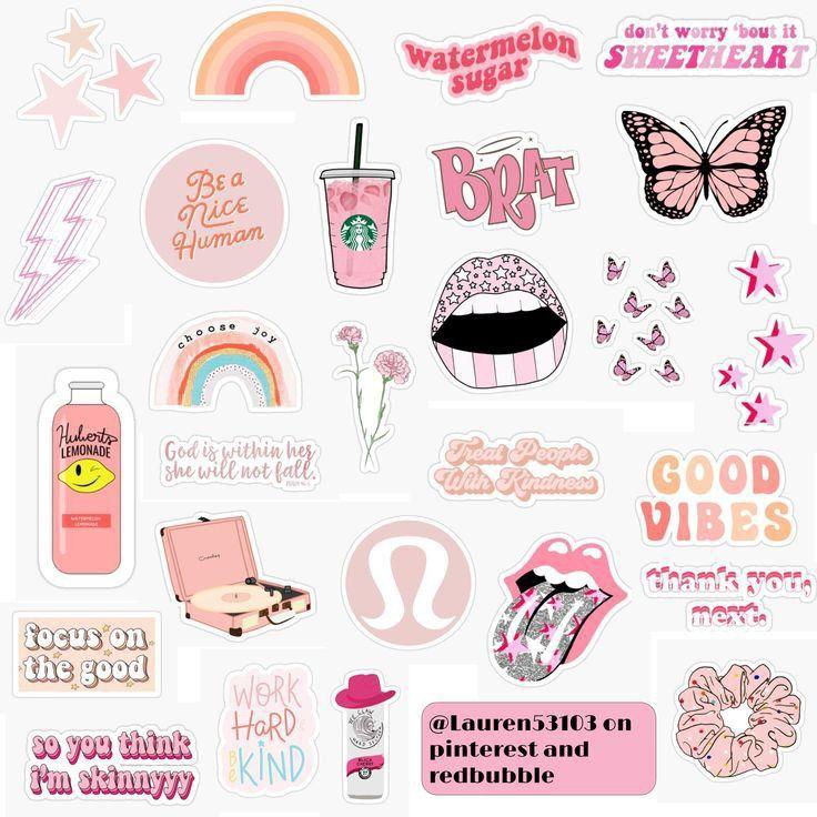 Sticker Pack Aesthetic Seni Buku Ilustrasi Poster Bingkai Foto