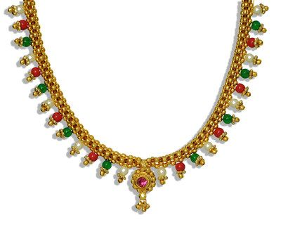 Womens Trendz Full Jhaler Multi Colour Thushi Necklace Necklaces and Necklace Sets on Shimply.com