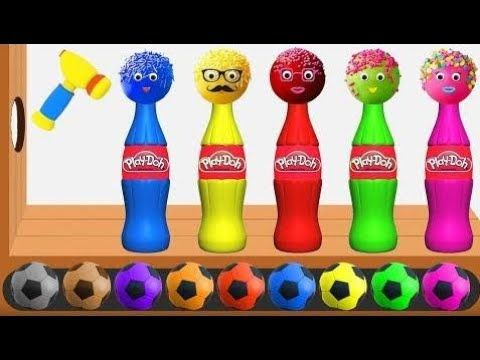 Aprende El Color Con Pelotas De Fútbol, ​​pop Tokes, Botellas De Playdoh...