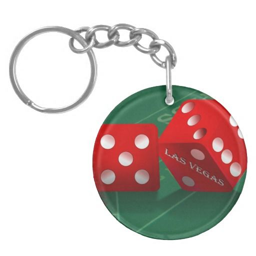 Craps Table With Las Vegas Dice Keychain | Vegas