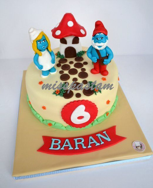 76 Best Images About Smurfs Cakes On Pinterest