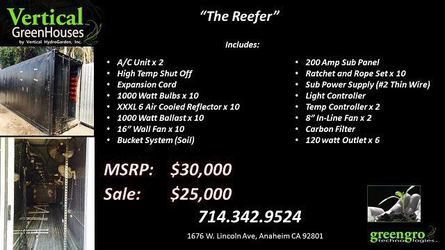"""The """"reefer container"""" #reefer #hydroponics #aeroponics #aquaponics #verticalhydrograden #vhg #hydro #growgood #gro #secretgrow #growroom #custom #hps #mh #nutrients #greengro #greengrotech #led #bloom #grow #harvest #yearround #growsystems #lights by vertical_hydrogarden"""