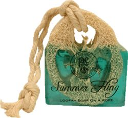 Loofah Soap on a rope