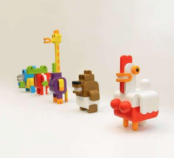 Minimals by Sebastian Burga Look Like Retro Video Game Characters #retro #toys trendhunter.com