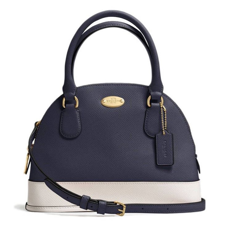 Coach Mini Cora Domed Satchel In Crossgrain Leather - - RM 620