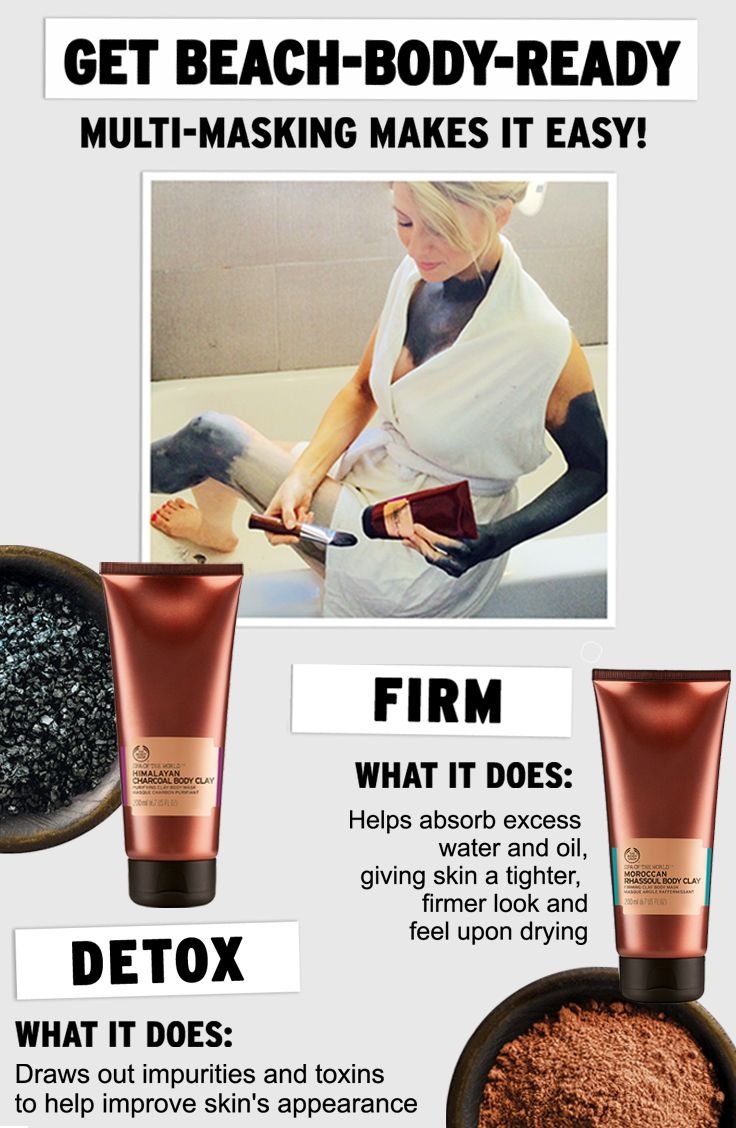 Enjoy a firming and detoxifying treatment at home with our body masks. We've combined charcoal powder with clay (kaolin) and created the clay body mask with a purifying power. The Body Shop Himalayan Charcoal Body Clay helps to improve the look of skin by drawing out impurities and toxins. After two weeks, skin feels smoother, softer, and deeply cleansed. Use this purifying body clay mask as part of our relaxing ritual when you're in need of a fast-track to tranquility.