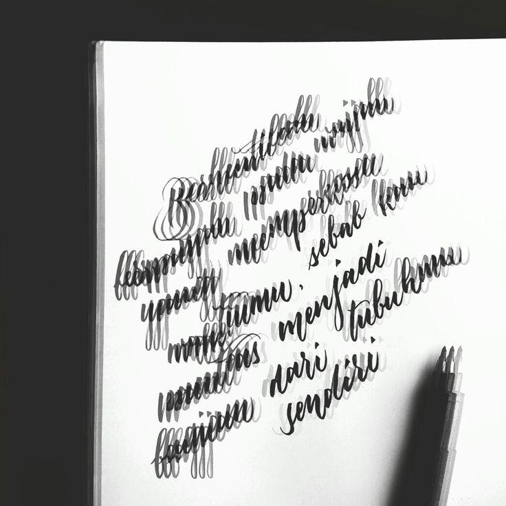 Calligraphy , zebra fine tip brush on paper, edited in picsart
