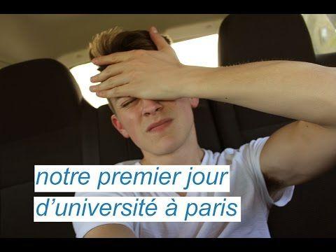 NOTRE PREMIER JOUR D'UNIVERSITÉ À PARIS - YouTube