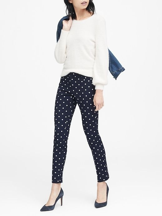 fab5cc8643fa Banana Republic Sloan Skinny-Fit Polka Dot Pant in 2019 | Products ...
