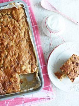 Een rijk gevuld bananenbrood, maar dan zonder suiker of boter, volgens recept van de Yoghurt Barn