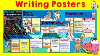 **\\KEEP AN EYE ON THIS PRODUCT AS I WILL REVISE WHEN ADDING MORE POSTERS//**Report WritingReport writing is a tricky concept. Learning how to structure it and all the elements that need to be taking note of can sometimes be tricky for K-2.Included is a Report Writing Poster to display when teaching the concept.