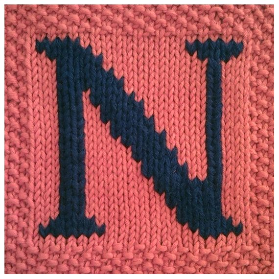 1000 Images About Alphabet Knitting Patterns On Pinterest