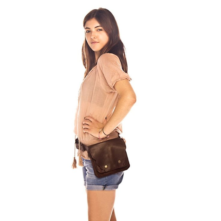 "Leather Hip Bags by Happy Cow - Fiona Glenanne's Hip Bag $84 - *As seen on ""Burn Notice"""